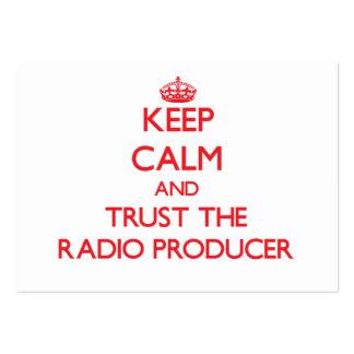 Guarde la calma y confíe en al productor de radio plantillas de tarjetas personales