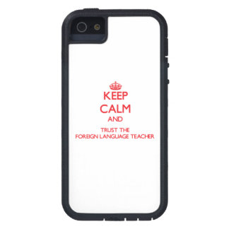 Guarde la calma y confíe en al profesor del idioma iPhone 5 Case-Mate fundas
