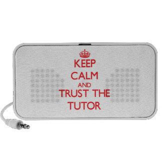 Guarde la calma y confíe en al profesor particular mp3 altavoz