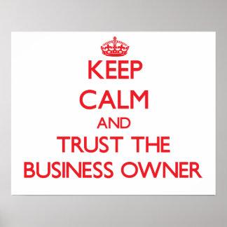 Guarde la calma y confíe en al propietario de nego impresiones