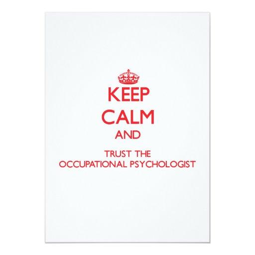"""Guarde la calma y confíe en al psicólogo invitación 5"""" x 7"""""""