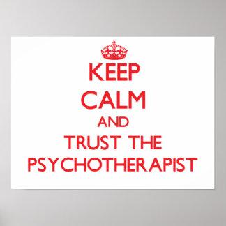 Guarde la calma y confíe en al psicoterapeuta impresiones