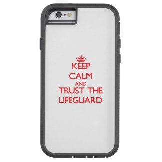 Guarde la calma y confíe en al salvavidas funda de iPhone 6 tough xtreme