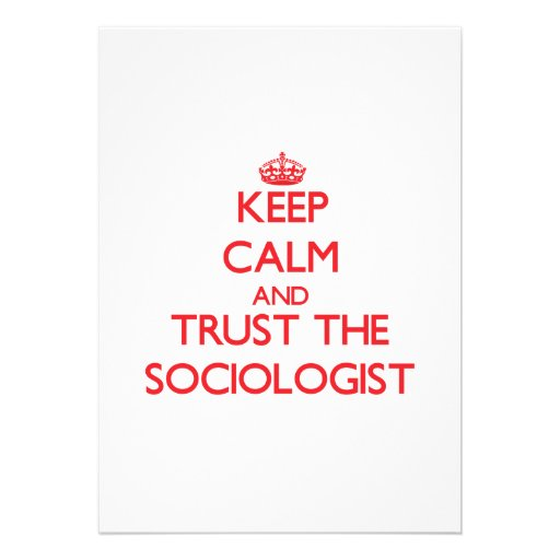 Guarde la calma y confíe en al sociólogo anuncios personalizados