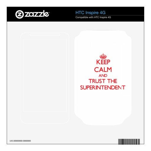 Guarde la calma y confíe en al superintendente calcomanía para HTC inspire 4G