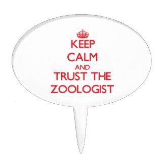 Guarde la calma y confíe en al zoologista decoraciones de tartas
