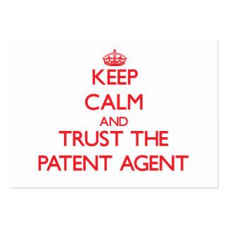 Guarde la calma y confíe en el agente de patente tarjeta personal