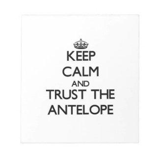 Guarde la calma y confíe en el antílope