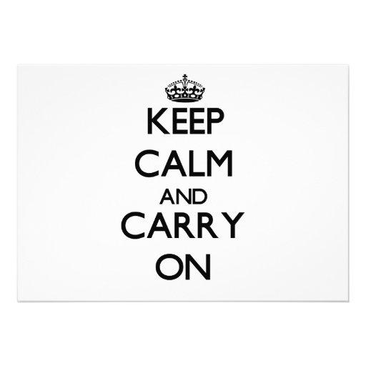Guarde la calma y confíe en el bajo comunicados personales