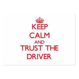 Guarde la calma y confíe en el conductor tarjetas de visita