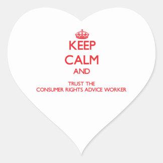Guarde la calma y confíe en el consejo Wor de las Colcomanias Corazon