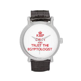 Guarde la calma y confíe en el Egyptologist Relojes