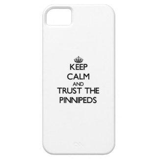 Guarde la calma y confíe en el Pinnipeds iPhone 5 Fundas