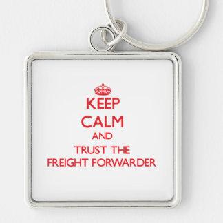 Guarde la calma y confíe en el promotor de carga llavero