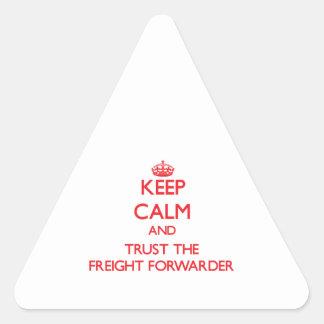 Guarde la calma y confíe en el promotor de carga colcomanias de triangulo personalizadas