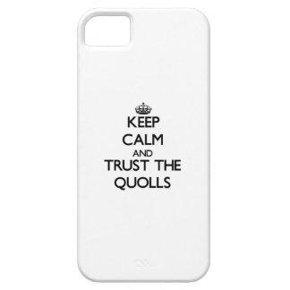 Guarde la calma y confíe en el Quolls iPhone 5 Funda