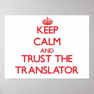 Guarde la calma y confíe en el traductor impresiones