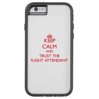 Guarde la calma y confíe en el vuelo Attendantcase