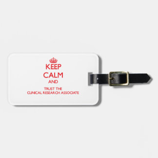 Guarde la calma y confíe en la investigación clíni etiquetas para equipaje