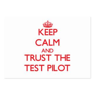 Guarde la calma y confíe en la prueba tarjetas de visita
