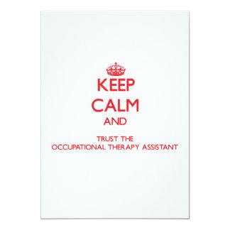 """Guarde la calma y confíe en la terapia profesional invitación 5"""" x 7"""""""