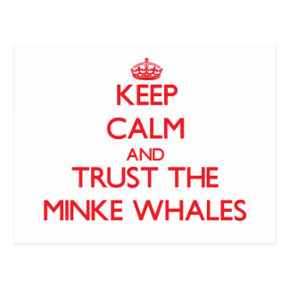 Guarde la calma y confíe en las ballenas pequeñas postal