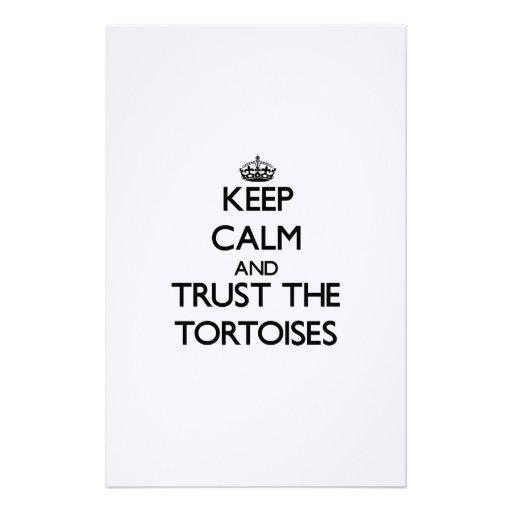 Guarde la calma y confíe en las tortugas  papeleria