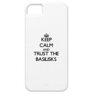 Guarde la calma y confíe en los basiliscos iPhone 5 cobertura