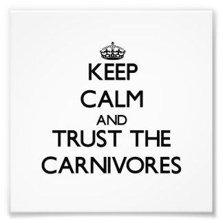 Guarde la calma y confíe en los carnívoros impresion fotografica