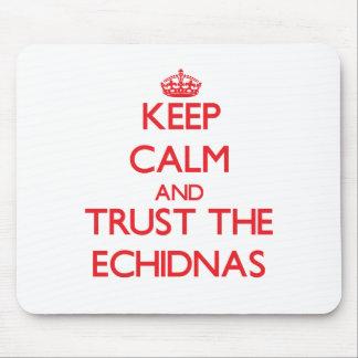Guarde la calma y confíe en los Echidnas Alfombrillas De Ratones