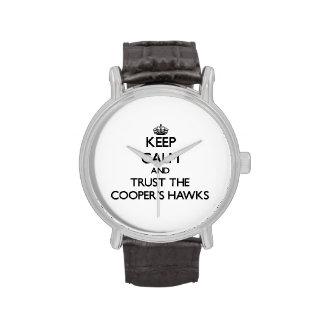 Guarde la calma y confíe en los halcones del relojes de pulsera