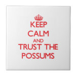 Guarde la calma y confíe en los oposums azulejos