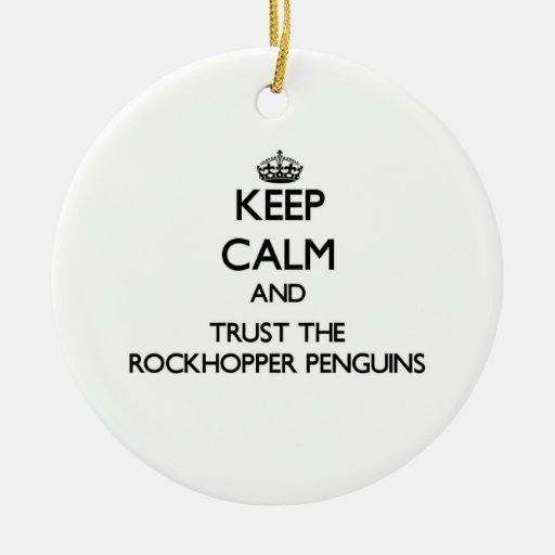 Guarde la calma y confíe en los pingüinos de ornato