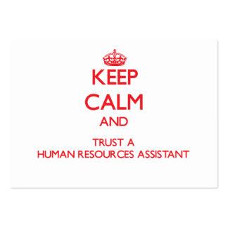 Guarde la calma y confíe en los recursos humanos a tarjetas de visita