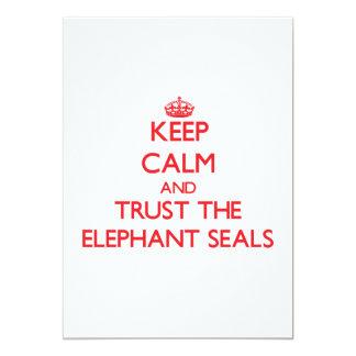 Guarde la calma y confíe en los sellos de elefante anuncio personalizado