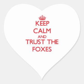 Guarde la calma y confíe en los zorros