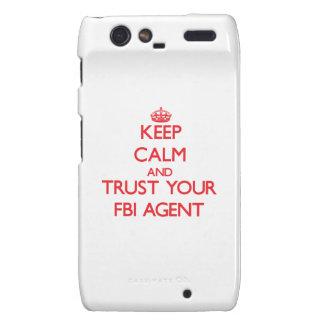 Guarde la calma y confíe en su agente del FBI Motorola Droid RAZR Funda