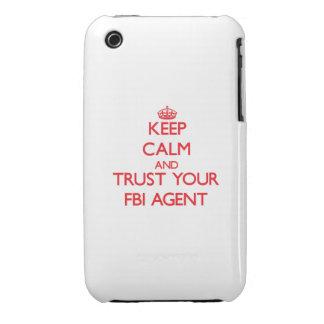 Guarde la calma y confíe en su agente del FBI Case-Mate iPhone 3 Carcasas