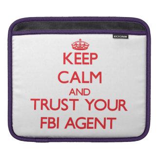 Guarde la calma y confíe en su agente del FBI Mangas De iPad