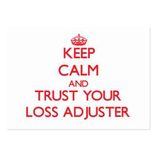 Guarde la calma y confíe en su ajustador de pérdid tarjetas de negocios