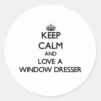 Guarde la calma y confíe en su aparador de ventana pegatina redonda