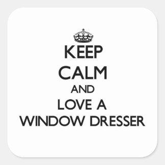 Guarde la calma y confíe en su aparador de ventana pegatina cuadrada
