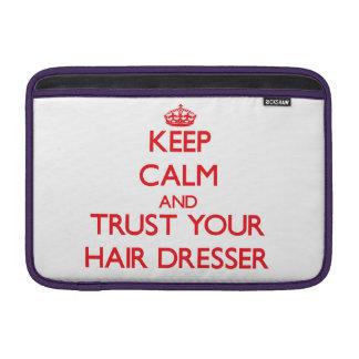 Guarde la calma y confíe en su aparador del pelo fundas MacBook