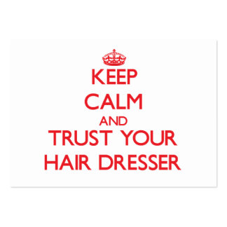 Guarde la calma y confíe en su aparador del pelo tarjeta de negocio