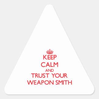 Guarde la calma y confíe en su arma Smith