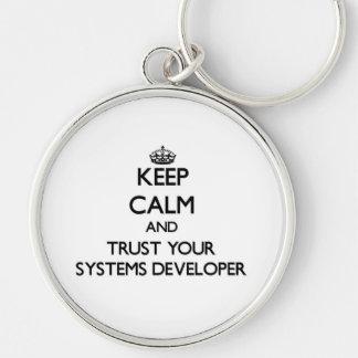 Guarde la calma y confíe en su desarrollador de llaveros personalizados