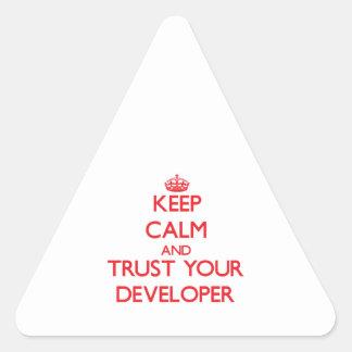 Guarde la calma y confíe en su desarrollador