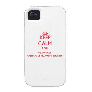 Guarde la calma y confíe en su desarrollo químico iPhone 4/4S carcasa