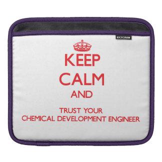 Guarde la calma y confíe en su desarrollo químico funda para iPads