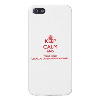 Guarde la calma y confíe en su desarrollo químico iPhone 5 protector